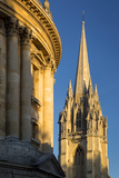 Sunset Radcliffe Camera and Tower of St Marys Church, Oxford, England Photographic Print by Brian Jannsen