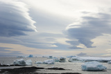 Antarctica. Brown Bluff. Lenticular Clouds Show Katabatic Winds Photographic Print by Inger Hogstrom