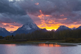 Sunset, Oxbow, Mount Moran, Grand Teton National Park, Wyoming, USA Photographic Print by Michel Hersen