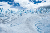 Detail of Perito Moreno Glacier with Clouds, Patagonia, Argentina Photographic Print by James White
