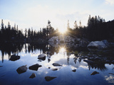 California, Sierra Nevada Mountains, Sunset over Skelton Lake, Inyo Nf Photographic Print by Christopher Talbot Frank