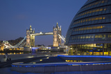 Twilight over City Hall and More London Development, London, England Photographic Print by Brian Jannsen