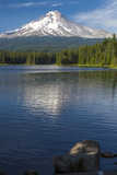 Mt. Hood, Oregon. Reflected and Shining over Trillium Lake Photographic Print by Michael Qualls