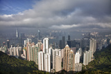 China, Hong Kong, View of Downtown Area from the Peak Viewing Area Photographic Print by Terry Eggers