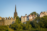 Tolbooth Church and Houses at Sunset, Edinburgh, Lothian, Scotland Photographic Print by Brian Jannsen