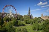 Princes Street Gardens with the Festival Wheel, Edinburgh, Scotland Photographic Print by Brian Jannsen
