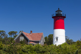 Massachusetts, Cape Cod, Eastham, Nauset Light, Lighthouse Photographic Print by Walter Bibikow