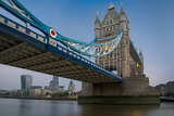 Financial District under the Span of the Tower Bridge, London, England Photographic Print by Brian Jannsen