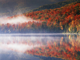 New York, Adirondack Mts, Fall and Fog Reflecting in Heart Lake Photographic Print by Christopher Talbot Frank