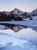 California, Sierra Nevada Mts, Dana Peak Reflecting in a Frozen Lake Photographic Print by Christopher Talbot Frank