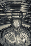 Germany, Berlin, Reichstag, Dome Interior, Evening Photographic Print by Walter Bibikow