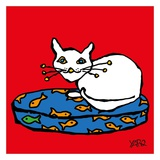 White Cat Prints by  Yaro