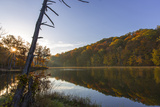 Lake Ogle in Autumn in Brown County State Park, Indiana, USA Photographic Print by Chuck Haney