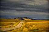 USA, Montana. Highway En Route to Helena from Glacier National Park on Stormy Day Photographic Print by Rona Schwarz