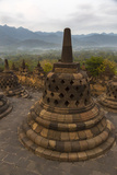 Borobudur, Indonesia. Symbol Shapes in Stupas at a Monastery Photographic Print by Charles Cecil