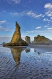 Sea Stacks on Bandon Beach in Bandon, Oregon, USA Photographic Print by Chuck Haney