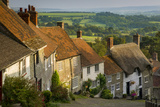 Evening at Gold Hill in Shaftesbury, Dorset, England Photographic Print by Brian Jannsen