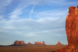Utah. Arizona Border, Navajo Nation, Late Light on Monument Valley Photographic Print by David Wall