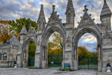 USA, Indianapolis, Indiana. the Entrance Gate to Crown Hill Cemetery Photographic Print by Rona Schwarz
