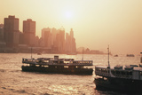 Hong Kong, Tsim Sha Tsui, View of Skyline and Star Ferry Photographic Print by Stuart Westmorland