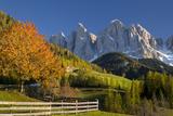 Geisler Spitzen, Dolomites, Val Di Funes, Trentino Alto Adige, Italy Photographic Print by Brian Jannsen