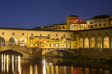 Twilight over Ponte Vecchio and River Arno, Florence, Tuscany, Italy Photographic Print by Brian Jannsen