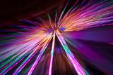 Los Angeles, Santa Monica, Cityview and Ferris Wheel at Night Photographic Print by David Wall