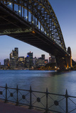 Australia, Sydney Harbor Bridge and Skyline from Milsons Point Photographic Print by Walter Bibikow