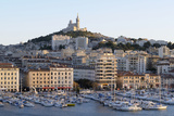 France, Bouches Du Rhone, Marseille. View Overlooking Vieux Port Photographic Print by Kevin Oke
