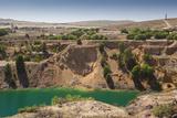 Australia, Burra, Former Copper Mining Town, Burra Mine Pit Photographic Print by Walter Bibikow