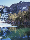 California, Sierra Nevada, Inyo Nf, Mammoth Lakes, Frozen Emerald Lake Photographic Print by Christopher Talbot Frank
