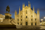 Vittorio Emanuele Statue and Cathedra, Milan, Lombardy, Italy Photographic Print by Brian Jannsen
