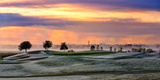 Frosty Morning Golf and Sunrise Sky Photographic Print by Sheila Haddad