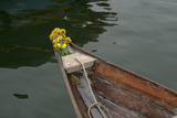 Vietnam, Hoi An, Quang Nam. Traditional Boat with Flowers on the Bow Photographic Print by Kevin Oke