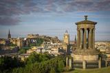 Dugald Stewart Monument, View from Calton Hill, Edinburgh, Scotland Photographic Print by Brian Jannsen
