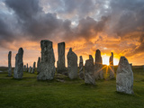 Standing Stones of Callanish, Isle of Lewis, Western Isles, Scotland Fotografisk tryk af Martin Zwick