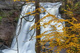 Brandywine Falls in Autumn in Cuyahoga National Park, Ohio, USA Photographic Print by Chuck Haney