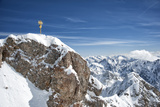 Zugspitze Mountain Top with Snow in Winter, Bavarian Alps, Germany Photographic Print by Sheila Haddad