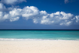 White Sandy Beach at Eagle Beach Near Oranjestad, Aruba, West Indies Photographic Print by Brian Jannsen