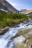 Lunch Creek with Pollock Mountain in Glacier National Park, Montana, USA Photographic Print by Chuck Haney