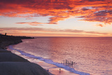Australia, Fleurieu Peninsula, Port Willunga, Sunset Photographic Print by Walter Bibikow