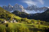 Val Di Funes, Santa Maddalena and Geisler Spitzen, Dolomites, Italy Fotodruck von Brian Jannsen