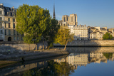 River Seine with Cathedral Notre Dame Beyond, Paris, France Photographic Print by Brian Jannsen