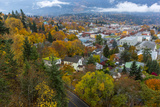 Looking Down into Autumn in Downtown Nelson, British, Columbia, Canada Photographic Print by Chuck Haney
