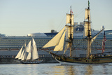 Canada, B.C, Victoria. Ships Sailing During Tall Ships Victoria Photographic Print by Kevin Oke