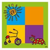 Tricycle Posters van  Yaro