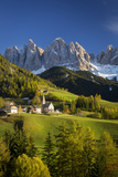 Val Di Funes, Santa Maddalena and Geisler Spitzen, Dolomites, Italy Photographic Print by Brian Jannsen