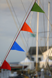 Washington, Port Townsend. Nautical Flags on a Wooden Sailboat Photographic Print by Kevin Oke