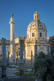 Trajans Column and Ruins of Trajans Forum, Rome Lazio Italy Photographic Print by Brian Jannsen
