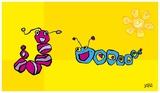 Caterpillar Friends Art by  Yaro